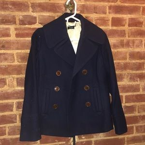 Navy Blue Wool J Crew Peacoat